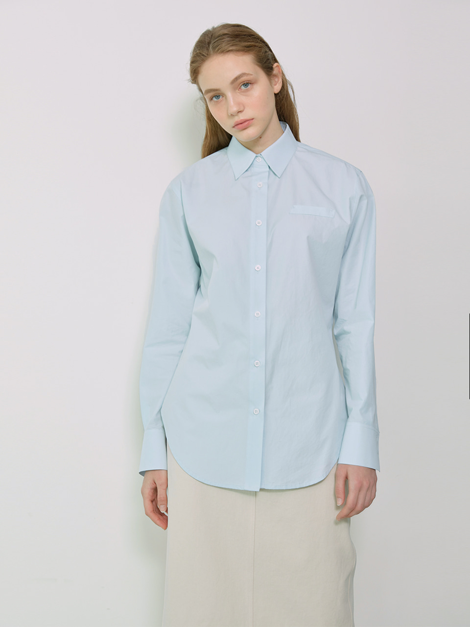 LENNY_Back Detailed Slim-fit Shirt_Sky Blue